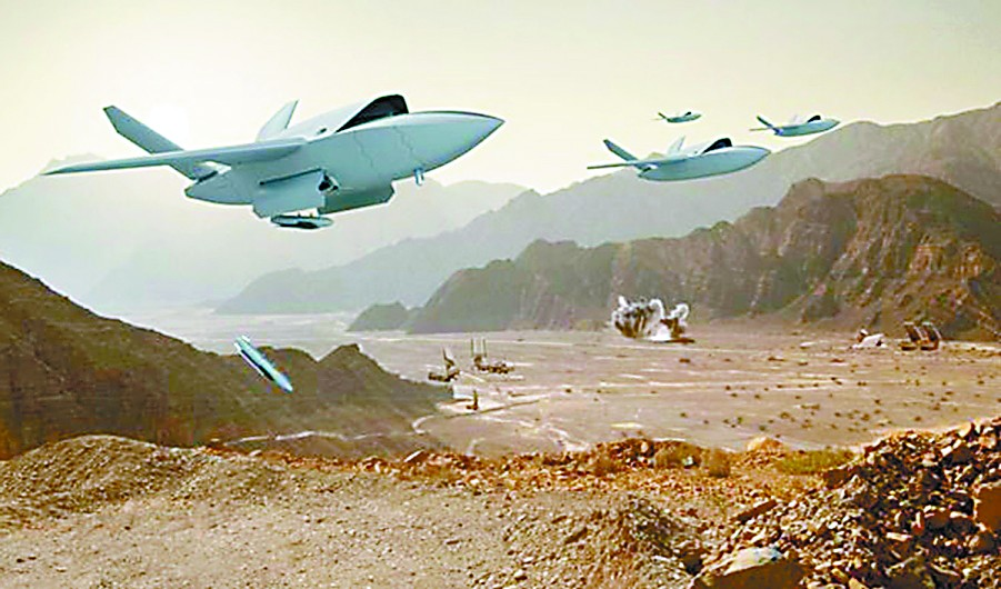 """未来战争缩影?无人战斗机将为F35当""""保镖"""""""