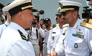 中国海军编队抵达伊朗开始访问