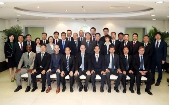 国际足联主席访华肯定中国足球改革