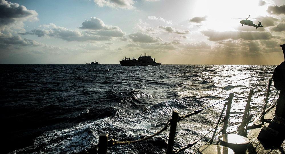 俄媒:美日在南海举行演习 遏制中国军事活动