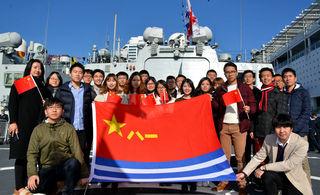 中国海军访问新西兰退伍兵抢镜