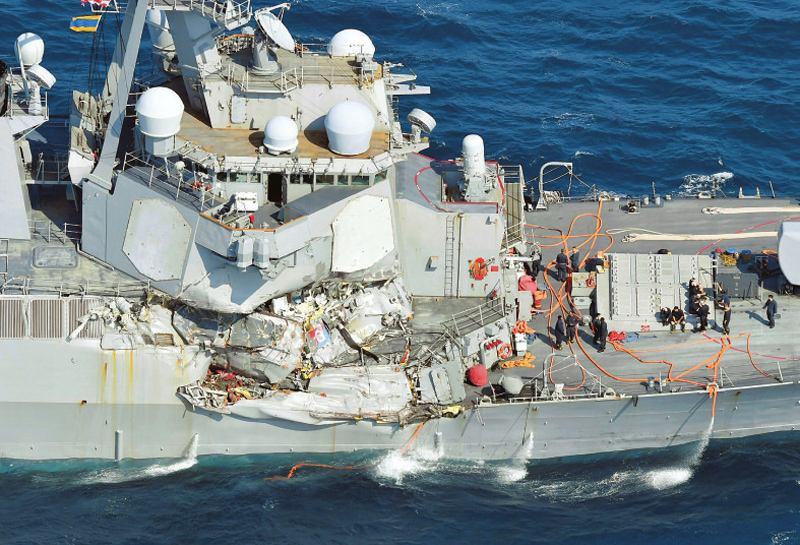 社评:撞伤美军宙斯盾舰的幸亏不是中俄商船