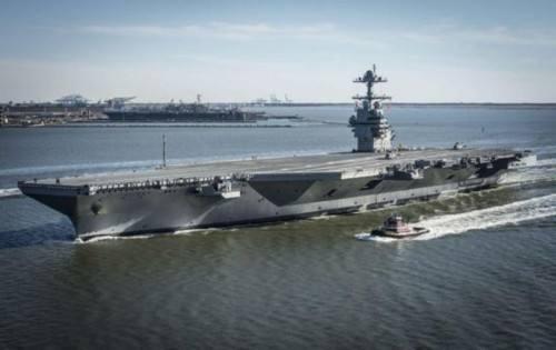 美军福特号航母起降系统遭诟病 成本暴涨6亿美元