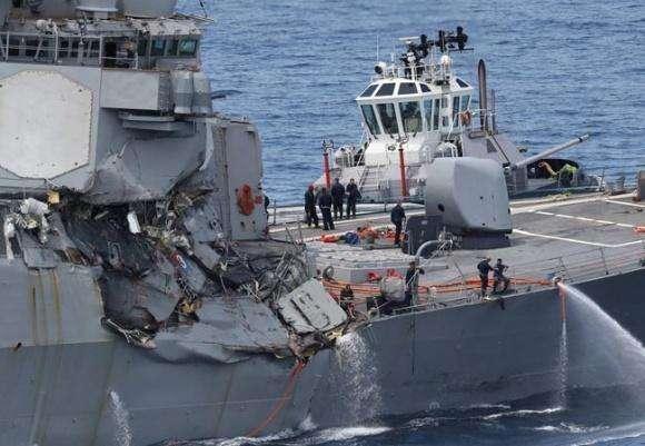 美着手调查撞舰案 传菲货轮事发前曾180度急转弯