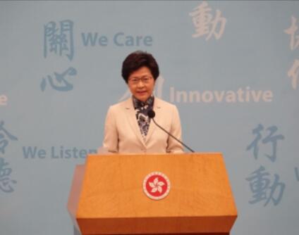 林郑率新政府高官会见记者 回应国民教育国安立法