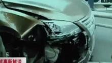 男子逆行撞上护栏  下车后猛扇自己耳光