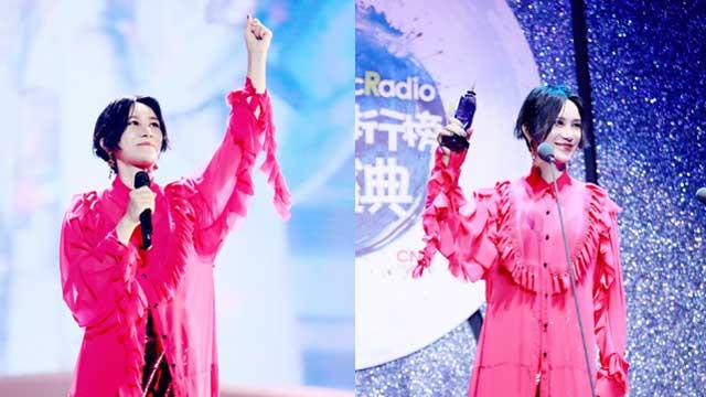 尚雯婕六度蝉联年度女歌手