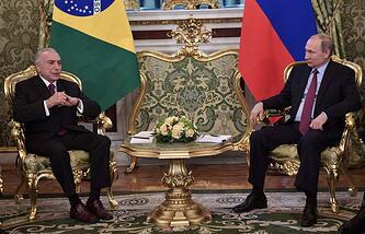 普京:俄罗斯与巴西将深化反恐协作
