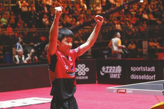 """日本乒乓神童回成都""""老家""""参赛 这次他有点紧张"""