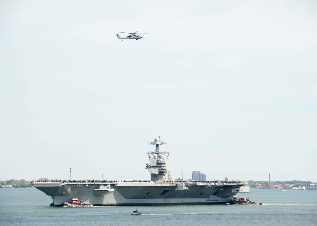 10艘航母还不够用?美军被指或让福特号提前部署