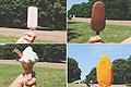 英记者炎热天气测试冰淇淋融化速度 诙谐有趣