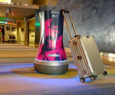 酒店的机器人上岗