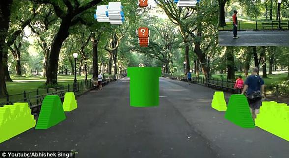 梦想变现实!纽约中央公园可体验AR版超级马里奥