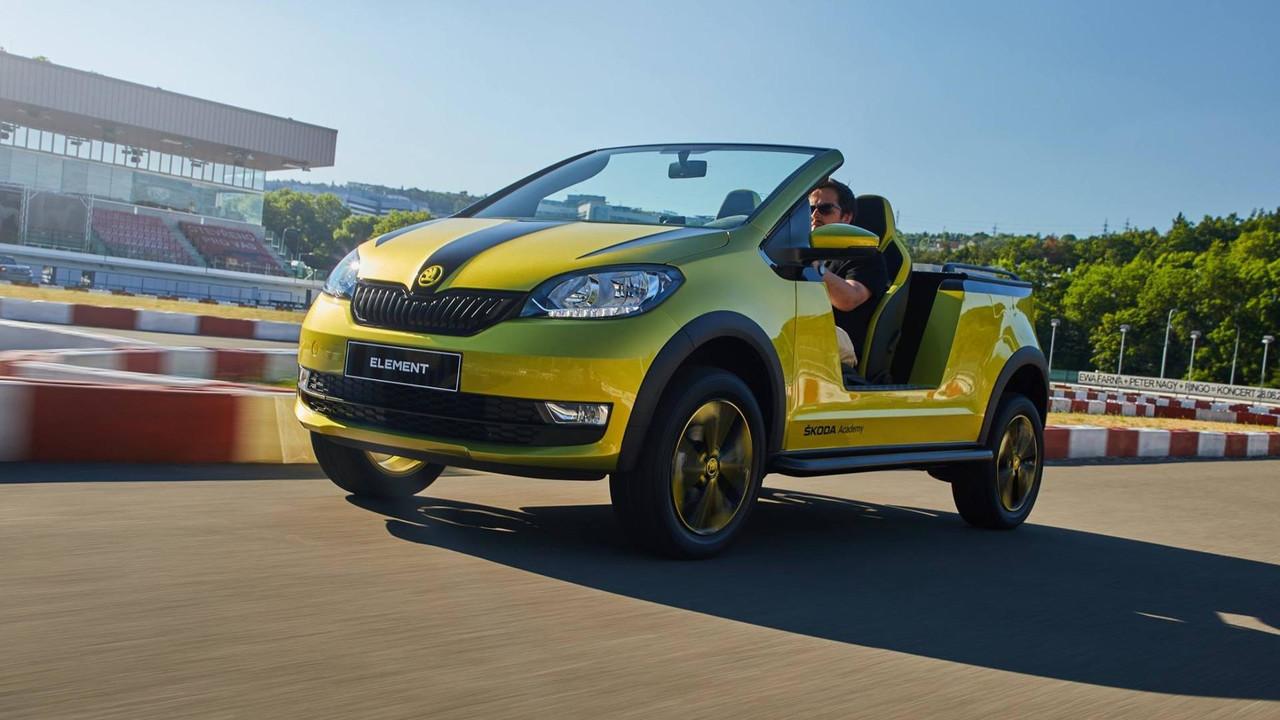 斯柯达Citigo变身电动沙滩车 配太阳能电池板