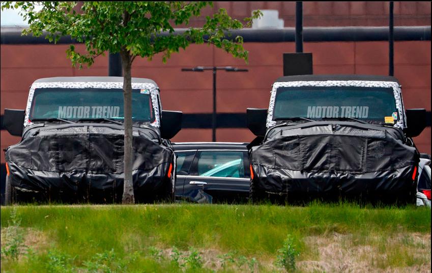 新Jeep牧马人双门版谍照曝光 有望四季度投产