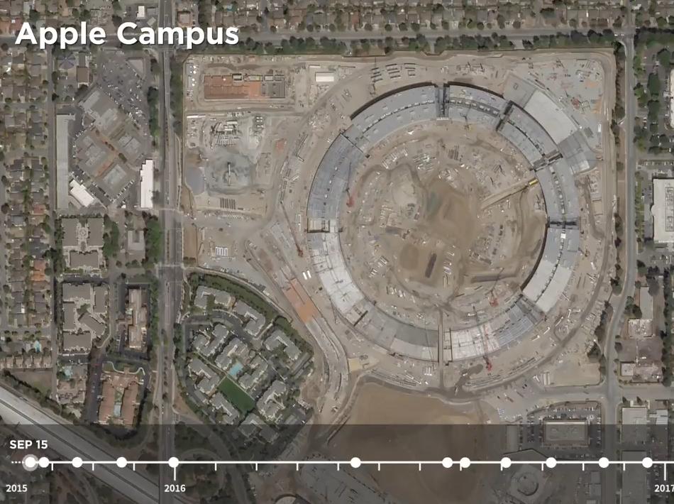 科技雷不撕:卫星视角18秒看完Apple Park两年变化