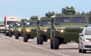中国援助白俄罗斯新型装甲车到货 颜值不输悍马