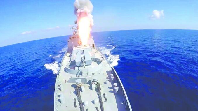 """俄军向叙利亚IS目标发射6枚""""口径""""巡航导弹"""