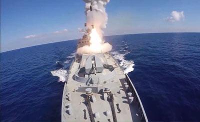 俄军向叙利亚IS发射6枚导弹