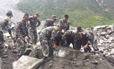 四川350余名兵力投入灾区救援