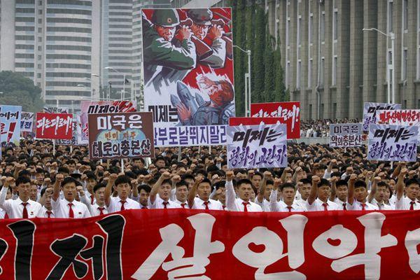 朝鲜举行大规模反美集会 纪念朝鲜战争爆发67周年