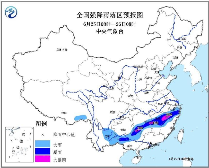 暴雨橙色预警发布:湖南、江西等地有大到暴雨