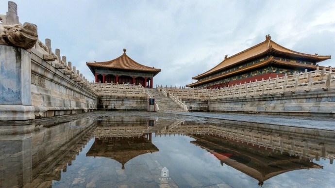 雨后故宫:积水寸许波平如镜
