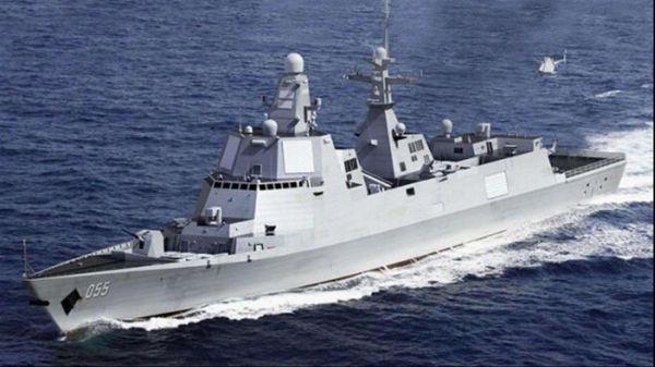 俄媒关注中国055驱逐舰:可装百枚导弹海上反导