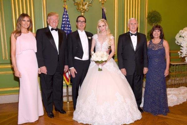 美财长三婚 特朗普夫妇捧场