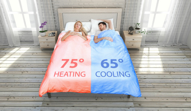 冰火两重天!这床智能被子可调温还能自动折叠