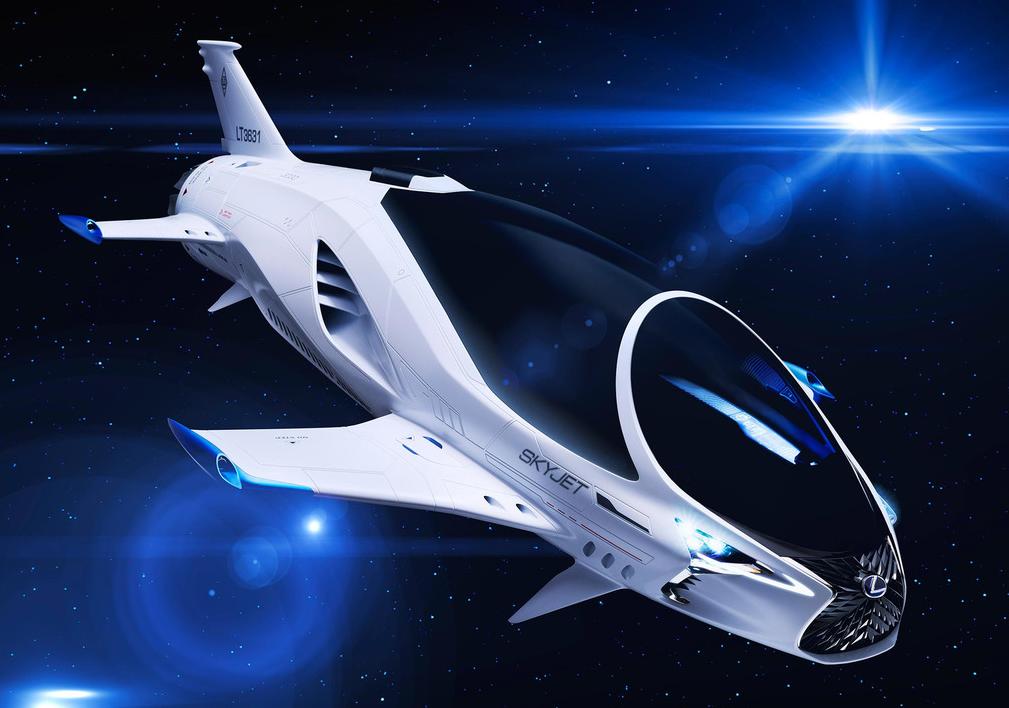 科技雷不撕:雷克萨斯展示700年后的宇宙飞船