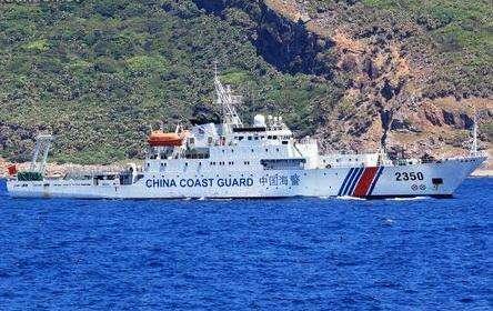 中国海警舰船编队6月26日在中国钓鱼岛领海巡航