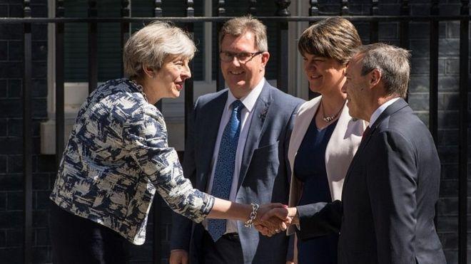 北爱尔兰民主统一党与英保守党达成协议 将支持特雷莎·梅政府