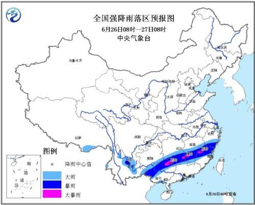 中央气象台发布暴雨黄色预警 江西等地有大暴雨