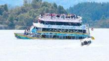 哥伦比亚一艘载150人游船在水库沉没