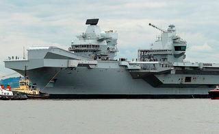 英国最新型航空母舰首次试航