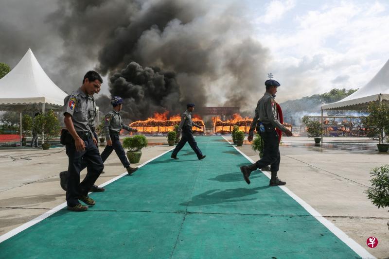 与毒品交易继续作战!缅泰柬国际禁毒日销毁近14亿元美元毒品