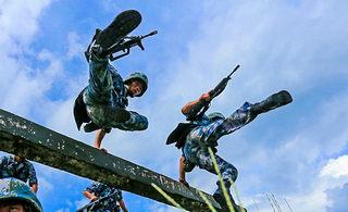 海军陆战队特种障碍训练敢来吗