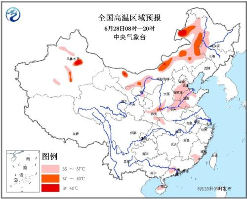 京津冀等多省遭高温袭击 内蒙古局地超40℃