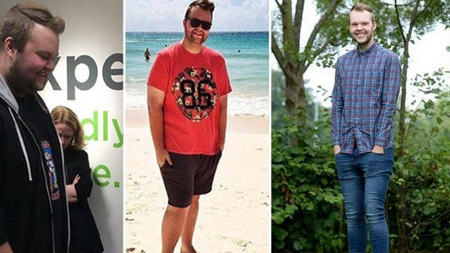 瘦身万岁!胖小伙为旅行一年狂减76公斤