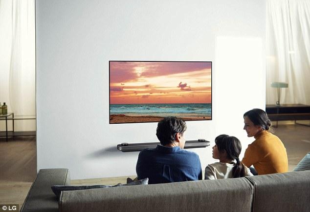 """LG极薄""""壁纸""""电视开售 77英寸售价20000美元"""