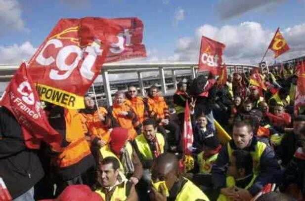 不满劳动法改革 法国总工会号召新一轮全国罢工