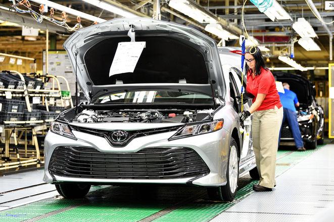 2018款丰田凯美瑞正式在美投产 今夏上市