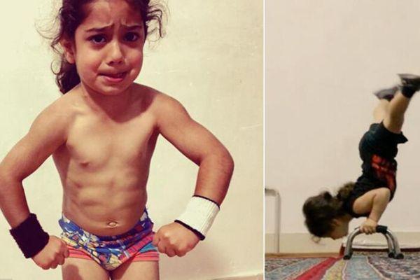 伊朗3岁小男孩健身网络走红 高超动作不可思议