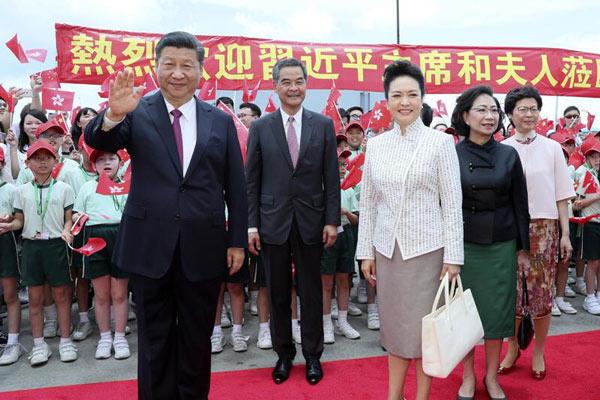 习近平抵达香港 将出席庆祝大会