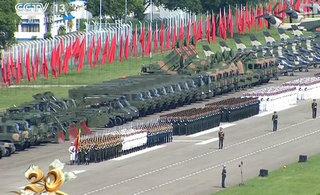 驻港部队举行盛大阅兵仪式