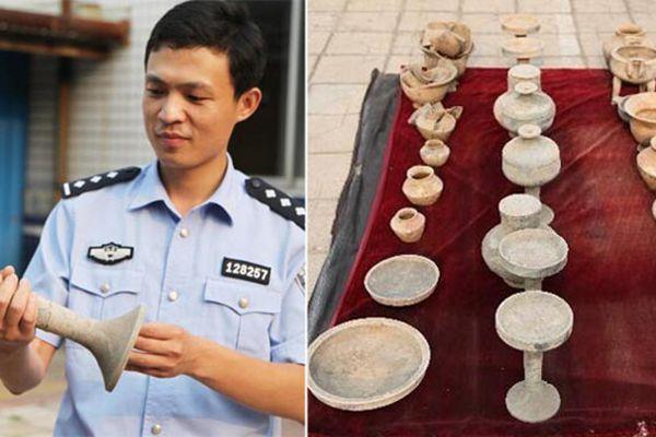 村民盗墓被抓 家中搜出25件国宝文物