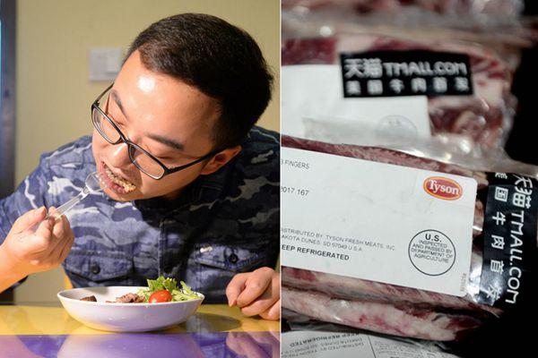 美国牛肉14年后重返中国餐桌 吃到第一口的竟然是他!