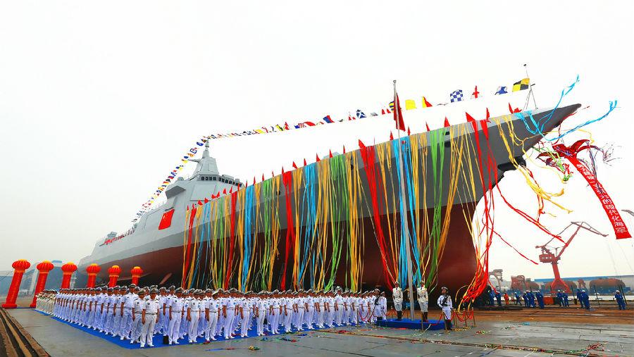 俄专家:055型驱逐舰远超俄 中国海军世界第二