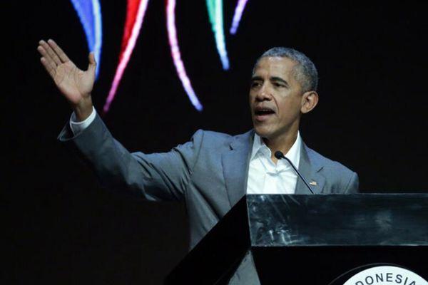 奥巴马出席印尼侨民大会 激情演讲